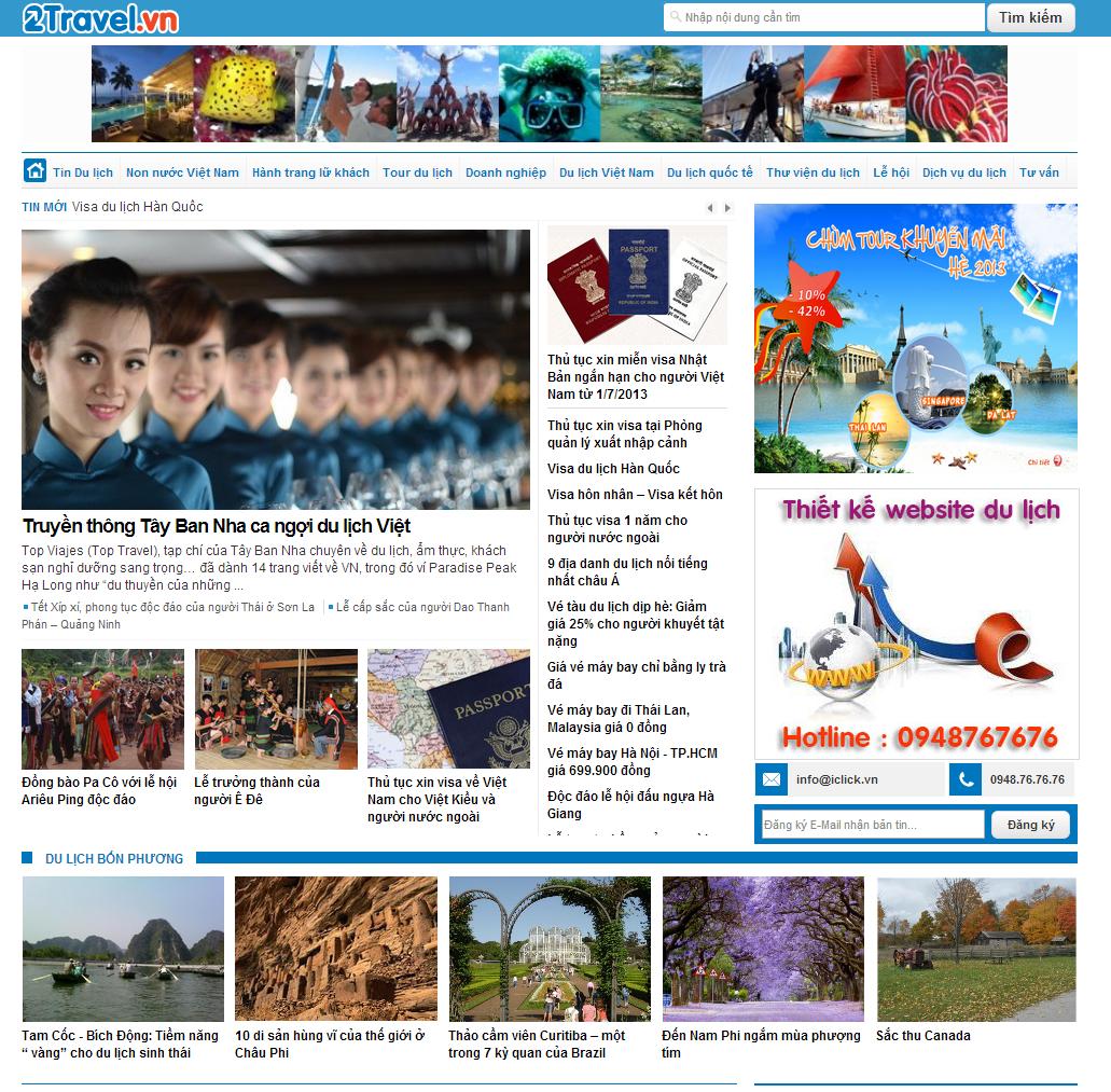Cổng thông tin du lịch đầu tiên tại Việt Nam
